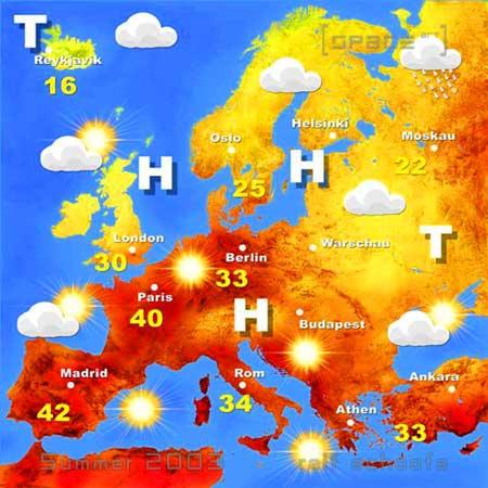 Wetterkarte Sommer 2003 V.2
