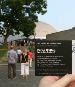Einladung Planetarium Bochum