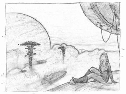 Wolkenreise Skizze 1